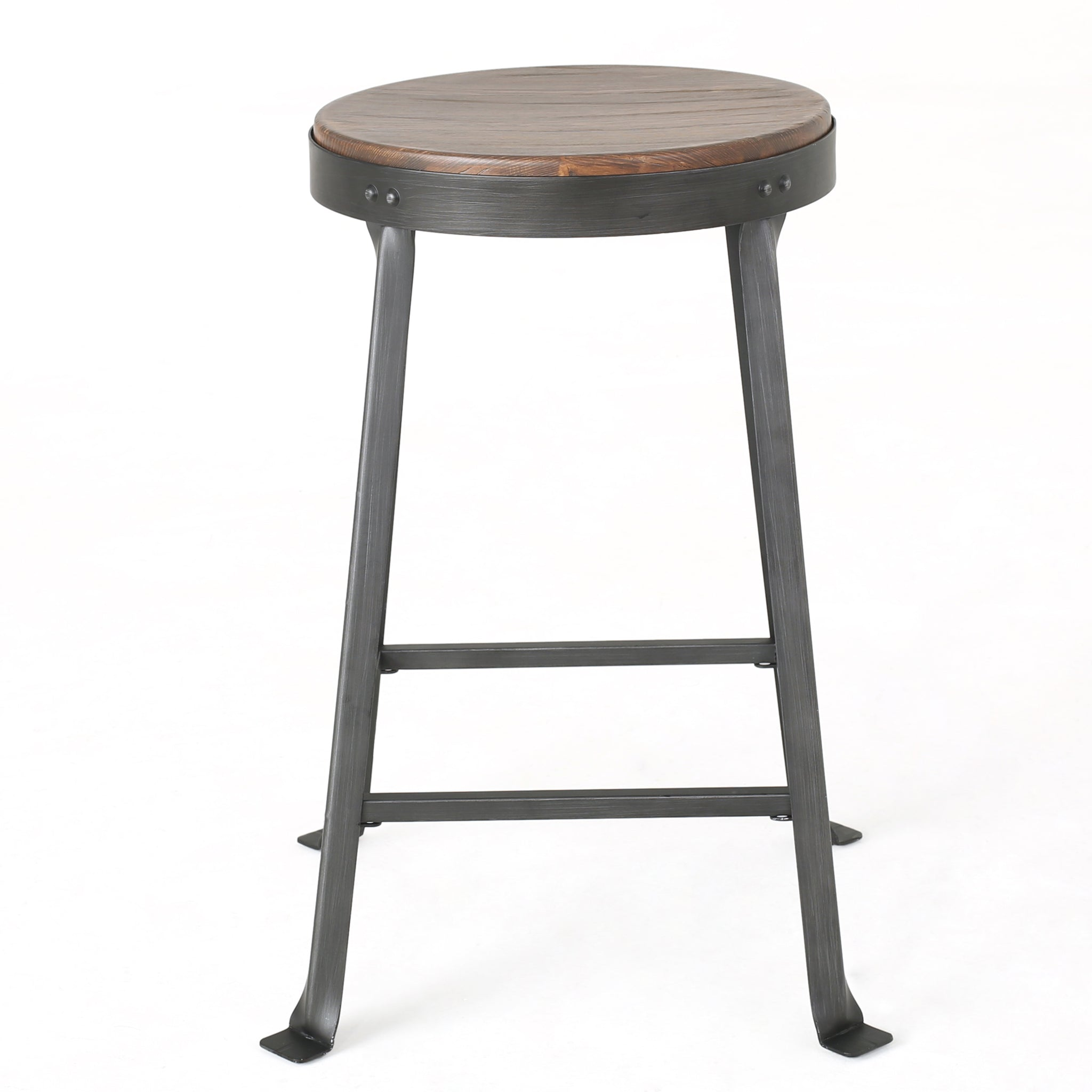Emel Weathered Wood Counter Stool (Set Of 2)