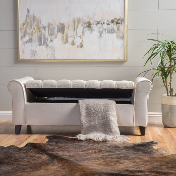 Keane Armed Storage Bench