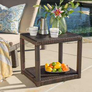 Bonneville Outdoor Wicker Accent Table