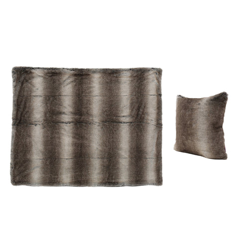 Torin Faux Fur Pillow And Throw Blanket Combo (Set Of 2)