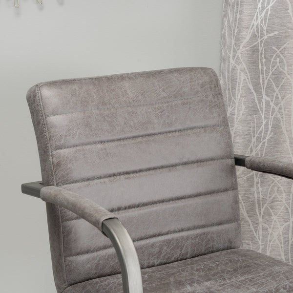Alouette Microfiber Modern Arm Chair (Set Of 2)