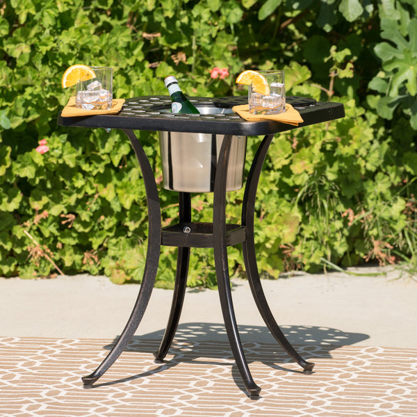 Alderson Outdoor 3 Piece Cast Aluminum Bistro Set