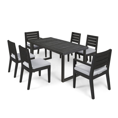 Nelson Outdoor 6-Seater Acacia Wood Dining Set