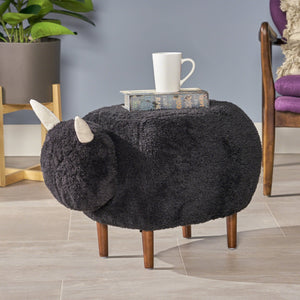 Pavillion Furry Sheep Ottoman