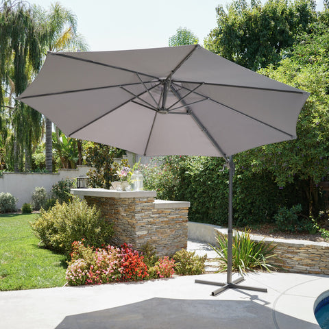 Phinney Outdoor Water Resistant Banana Sun Canopy With Steel Frame