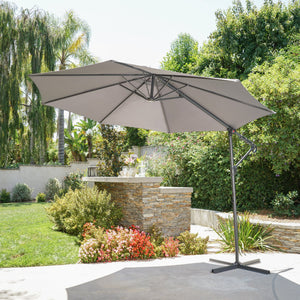 Staci Outdoor Water Resistant Banana Sun Canopy With Steel Frame