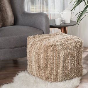 Bethany Fabric Pouf
