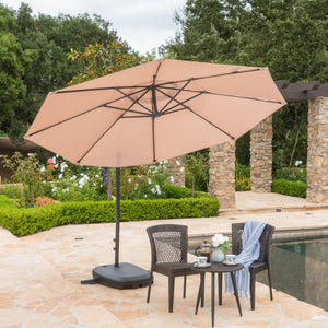 Shira Outdoor Sand Water Resistant Canopy And Aluminum Pole With Plastic Base