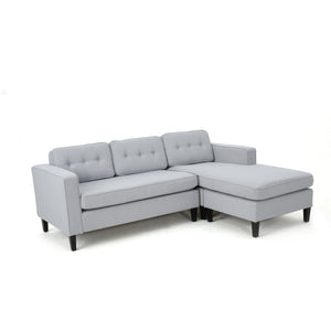 Wheels Mid Century Fabric Chaise Sectional