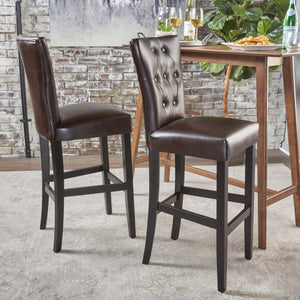 Phinnaeus Leather Barstools (Set Of 2)