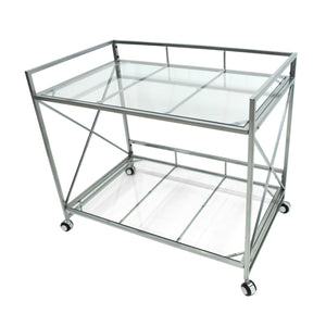 Idaho Industrial Modern Iron And Glass Bar Cart