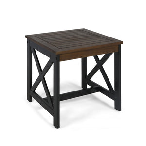 Crowley Beach Outdoor Farmhouse Acacia Wood End Table