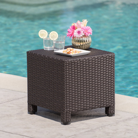 Preston Outdoor Wicker Side Table