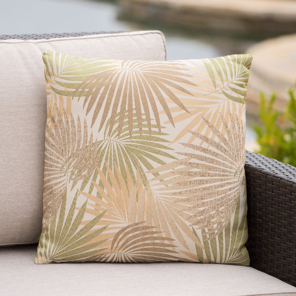 Cornelius Outdoor Square Tropical Water Resistant Pillow