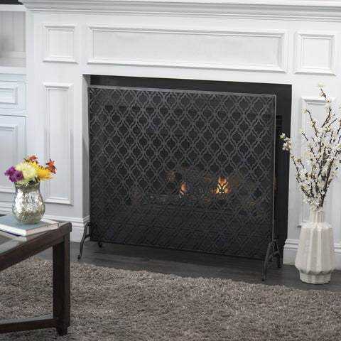 Ellaina Single Panel Iron Fire Screen