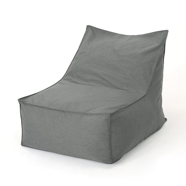 3 Ft Water Resistant Fabric Indoor Bean Bag Chair | Color: Gray, Color: Dark Gray