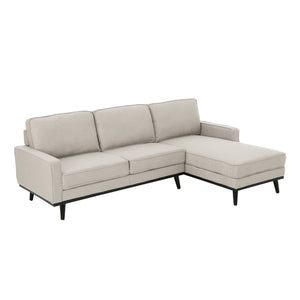 Maryellen Mid Century Fabric Chaise Sectional Sofa