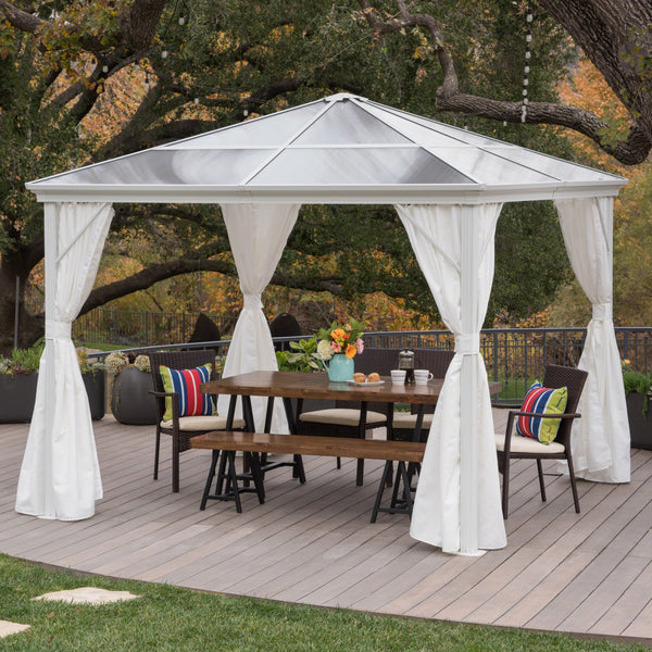 Arrigo Outdoor 10 X 10 Foot Aluminum Framed Gazebo With Hardtop
