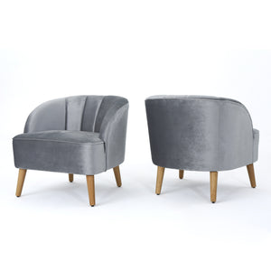 Alvarado Modern Club Chairs | Color: Gray, Quantity: Set of 2, Set of 2: Color, Color: Pewter