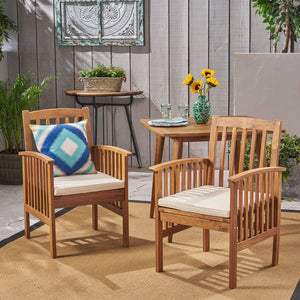 Carson Acacia Patio Dining Chairs