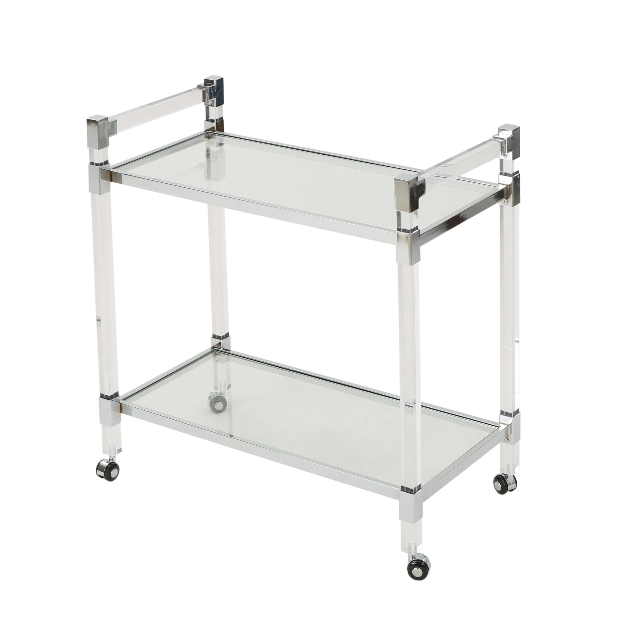 Mirage Modern Glass Bar Trolley