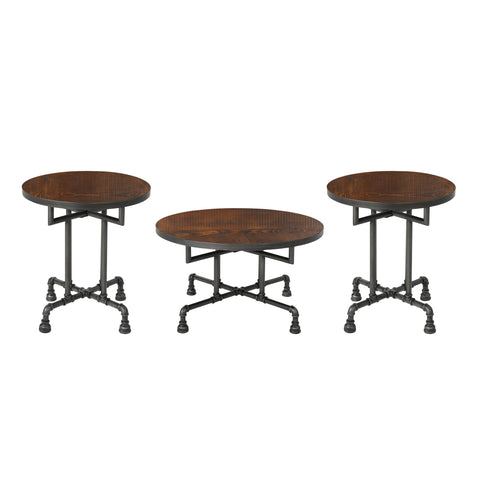Westdale Industrial Faux Wood Coffee And End Table Set