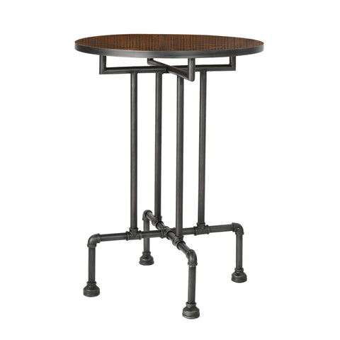 Westdale Industrial Faux Wood Bar Table