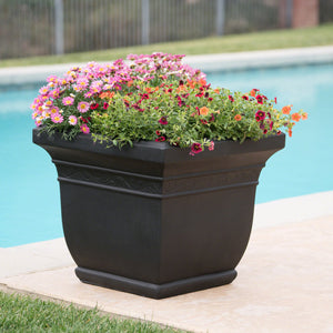 Saguard Outdoor Cast Stone Planter