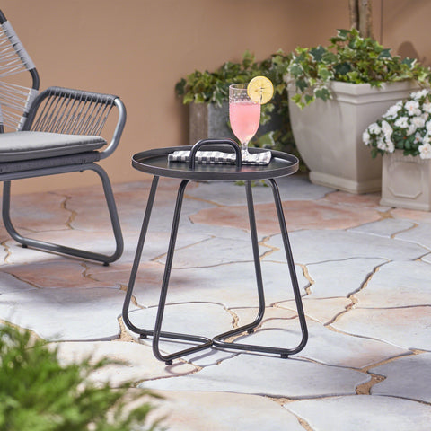 Macy Outdoor Aluminum Side Table