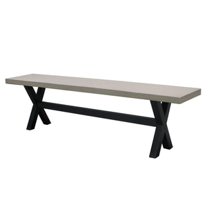 Maxine Indoor Finished Concrete Dining Bench