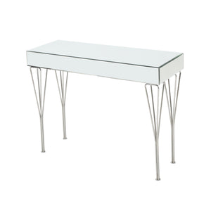 Omega Modern Glam Mirrored Console Table