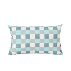 Isla Indoor And Plaid Water Resistant Rectangular Throw Pillow