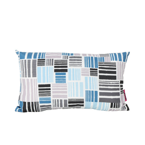 Hayward Indoor Patchwork And Abstract Mosaic Patterned Water Resistant Rectangular Throw Pillow