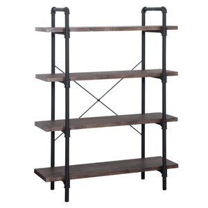 Oslo Faux Wood Industrial 4 Tier Shelf