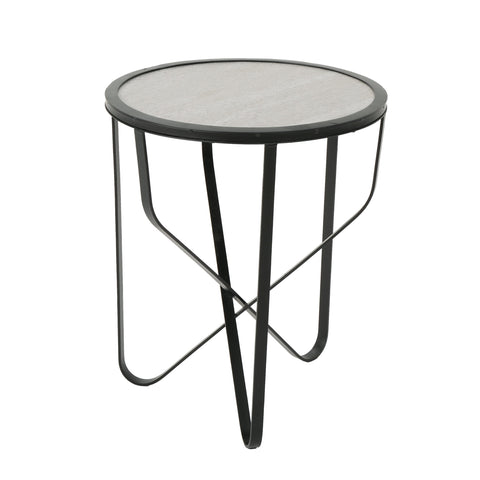 Cutler Indoor Modern 18 Inch Finish Ceramic Tile Side Table