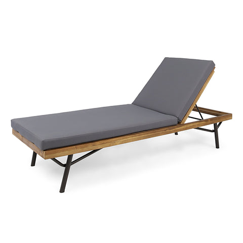 Candle Outdoor Acacia And Eucalyptus Chaise Lounge