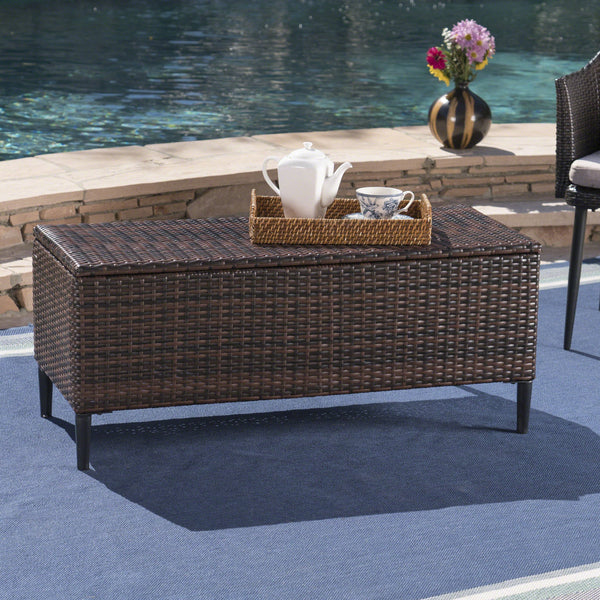 Ruby Outdoor Wicker Storage Unit