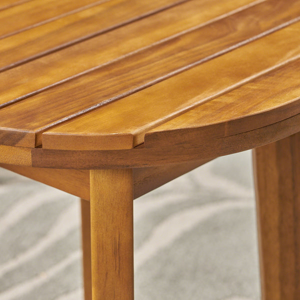 "Georgetowne Outdoor 16"" Acacia Wood Side Table"