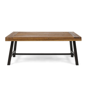 Carisia Outdoor Acacia Wood Coffee Table
