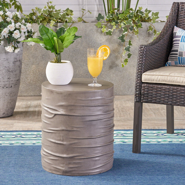 "Zahara Outdoor 16"" Concrete Side Table"