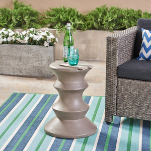"Euclid Outdoor 22"" Concrete Side Table"
