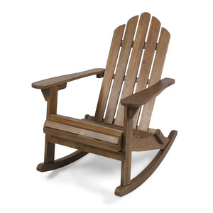 Holden Outdoor Adirondack Acacia Wood Rocking Chair