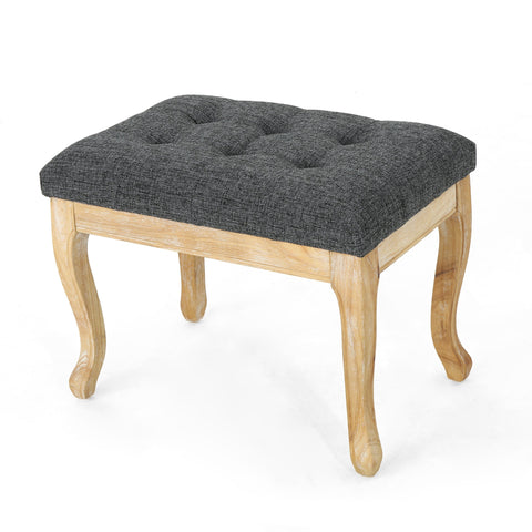 Densmore Traditional Fabric Ottoman
