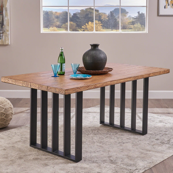 Javi Indoor Farmhouse Natural Finish Concrete Dining Table