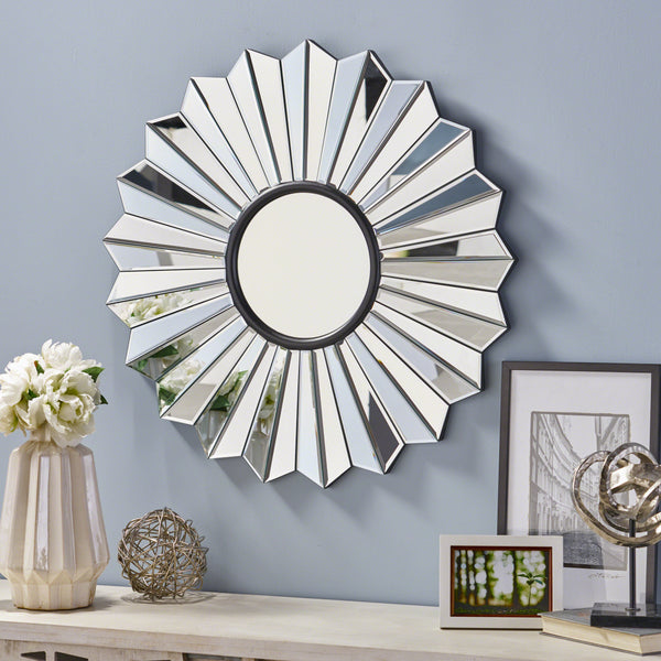 Jacksonville Glam Flower Wall Mirror