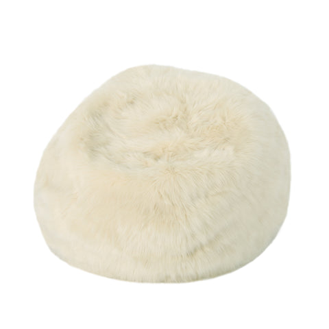 Madera 3 Ft Faux Fur Beanbag | Color: Brown, Color: Taupe