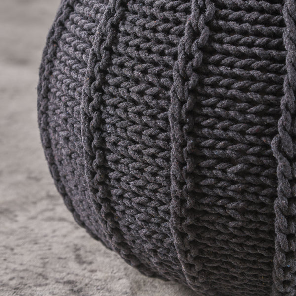 Corderia Knitted Cotton Pouf