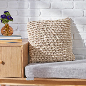 Falon Knitted Cotton Pillow