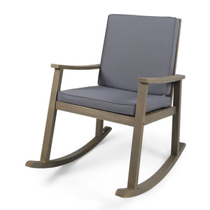 Campbell Outdoor Acacia Wood Rocking Chair
