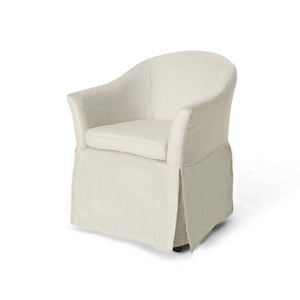 Bali Traditional Accent Chair With Skirt
